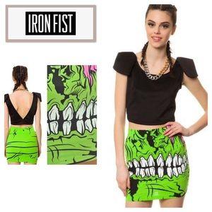Iron Fist Zombie Chomper Mini Skirt